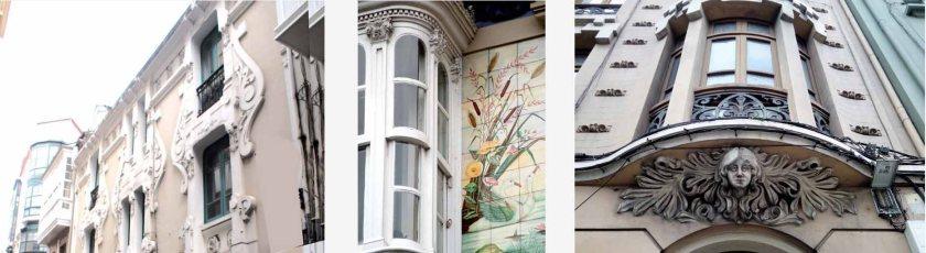 casa cisnes-manuel reboredo-modernista-plaza de lugo-coruña-calle galera-avda oza-modernista
