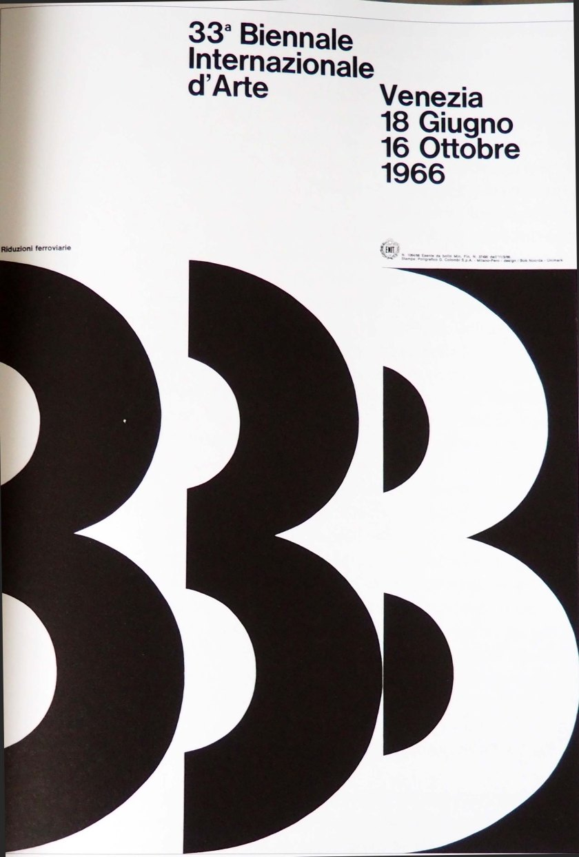 Cartel 33ª Biennale Internazionale arte. Venezia. 1966