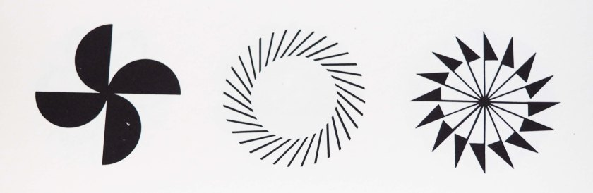 Logo optical art. Japanese.