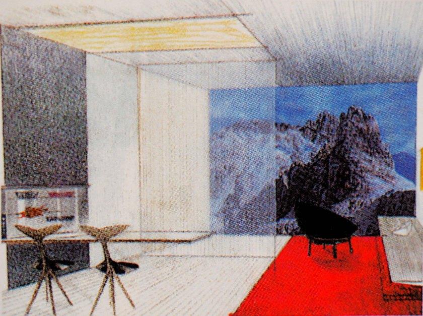 Sala de estar. Ciudad del futuro. Año 2000.