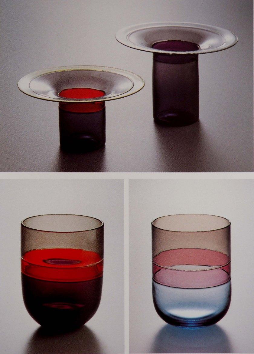 Vasos vidrio soplado.